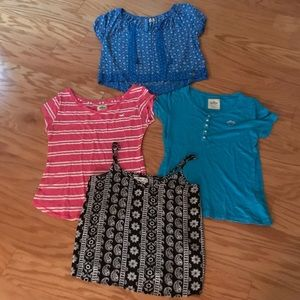 Lot of four hollister tops